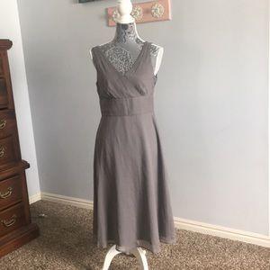 Grey or silver sleeveless dress